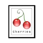 cherries Framed Panel Print