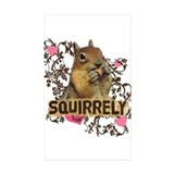 Squirrely Squirrel Lover Rectangle Sticker 10 pk)