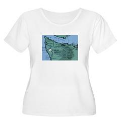 Forks, WA. 2 Women's Plus Size Scoop Neck T-Shirt