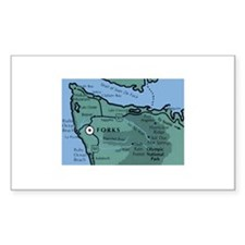 Forks, WA. 2 Rectangle Sticker 10 pk)