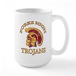 Forks High Trojans Large Mug