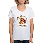 Forks High Trojans Women's V-Neck T-Shirt