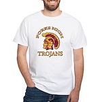 Forks High Trojans White T-Shirt