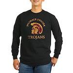 Forks High Trojans Long Sleeve Dark T-Shirt