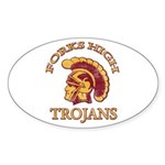 Forks High Trojans Oval Sticker (10 pk)