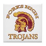 Forks High Trojans Tile Coaster