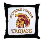 Forks High Trojans Throw Pillow