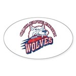 Quileute High Wolves Oval Sticker (10 pk)