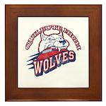 Quileute High Wolves Framed Tile