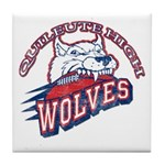 Quileute High Wolves Tile Coaster