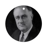 Franklin Roosevelt Ornament (Round)