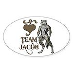 Team Jacob Oval Sticker (10 pk)
