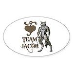 Team Jacob Oval Sticker (50 pk)