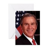 George W. Bush Greeting Card