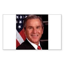 George W. Bush Rectangle Sticker 10 pk)