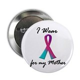 "I Wear A Thyroid Ribbon 1 (Mother) 2.25"" Button"