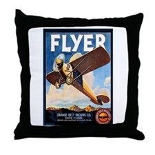Vintage Airplane Throw Pillow