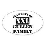Property Of Cullen Family Oval Sticker