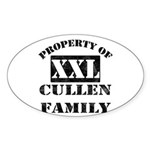 Property Of Cullen Family Oval Sticker (10 pk)