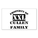 Property Of Cullen Family Rectangle Sticker 10 pk