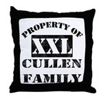 Property Of Cullen Family Throw Pillow