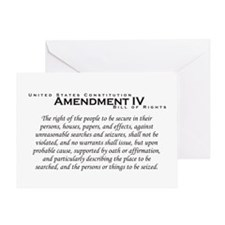 Amendment IV Greeting Card