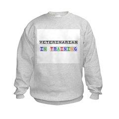 Veterinarian In Training Kids Sweatshirt