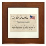 Amendment II w/Flag Framed Tile