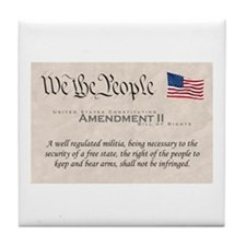 Amendment II w/Flag Tile Coaster
