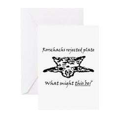 Rorschachs Rejected Plate 4 Greeting Cards (Pk of