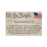 Amendment IV w/Flag Rectangle Magnet (10 pack)