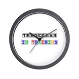 Tradesman In Training Wall Clock