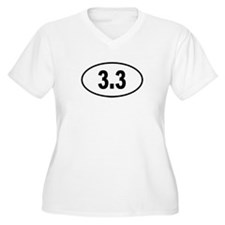 3.3 Womes Plus-Size V-Neck T-Shirt