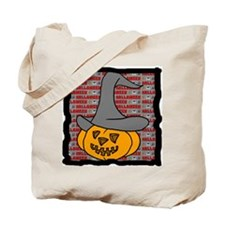 Pumpkin in halloween hat Tote Bag