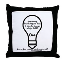 How Many Psychologists to Cha Throw Pillow