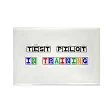 Test Pilot In Training Rectangle Magnet