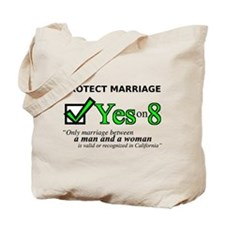 Yes on 8 Tote Bag