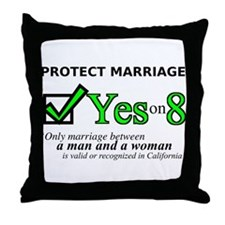 Yes on 8 Throw Pillow