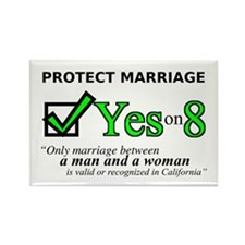 Yes on 8 Rectangle Magnet
