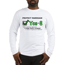 Yes on 8 Long Sleeve T-Shirt