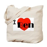 I Love Ben Tote Bag