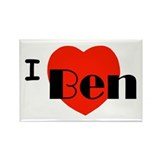 I Love Ben Rectangle Magnet (100 pack)
