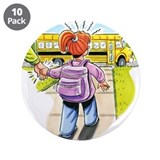 "Little Girl School bus 3.5"" Button (10 pack)"