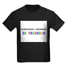 Structural Engineer In Training Kids Dark T-Shirt