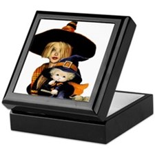 Mother and Child Witch Keepsake Box