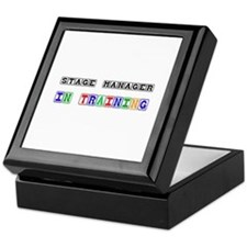 Stage Manager In Training Keepsake Box