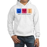 Peace Love Cure Leukemia Jumper Hoodie