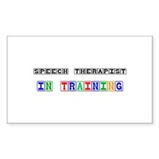 Speech Therapist In Training Rectangle Decal