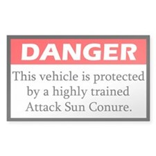 Danger Attack Sun Conure Decal
