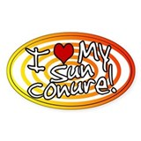 Hypno I Love My Sun Conure Oval Sticker Sunfire